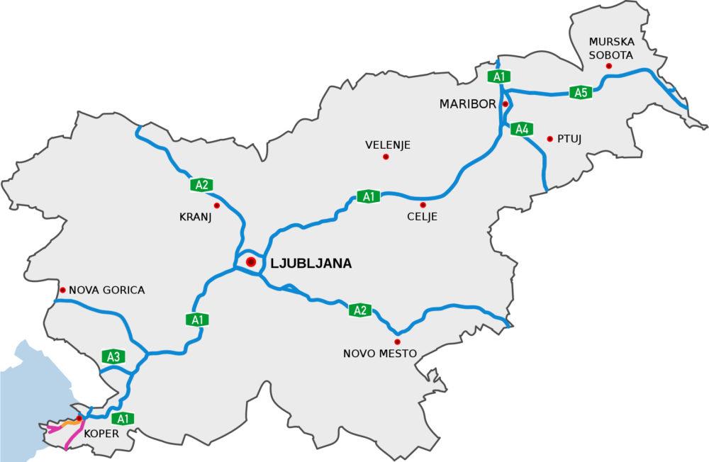 Płatne drogi i autostrady w Słowenii